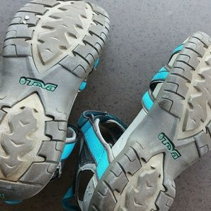 TEVA Tirra sandals size 7.5 teal blue VG Eucond.